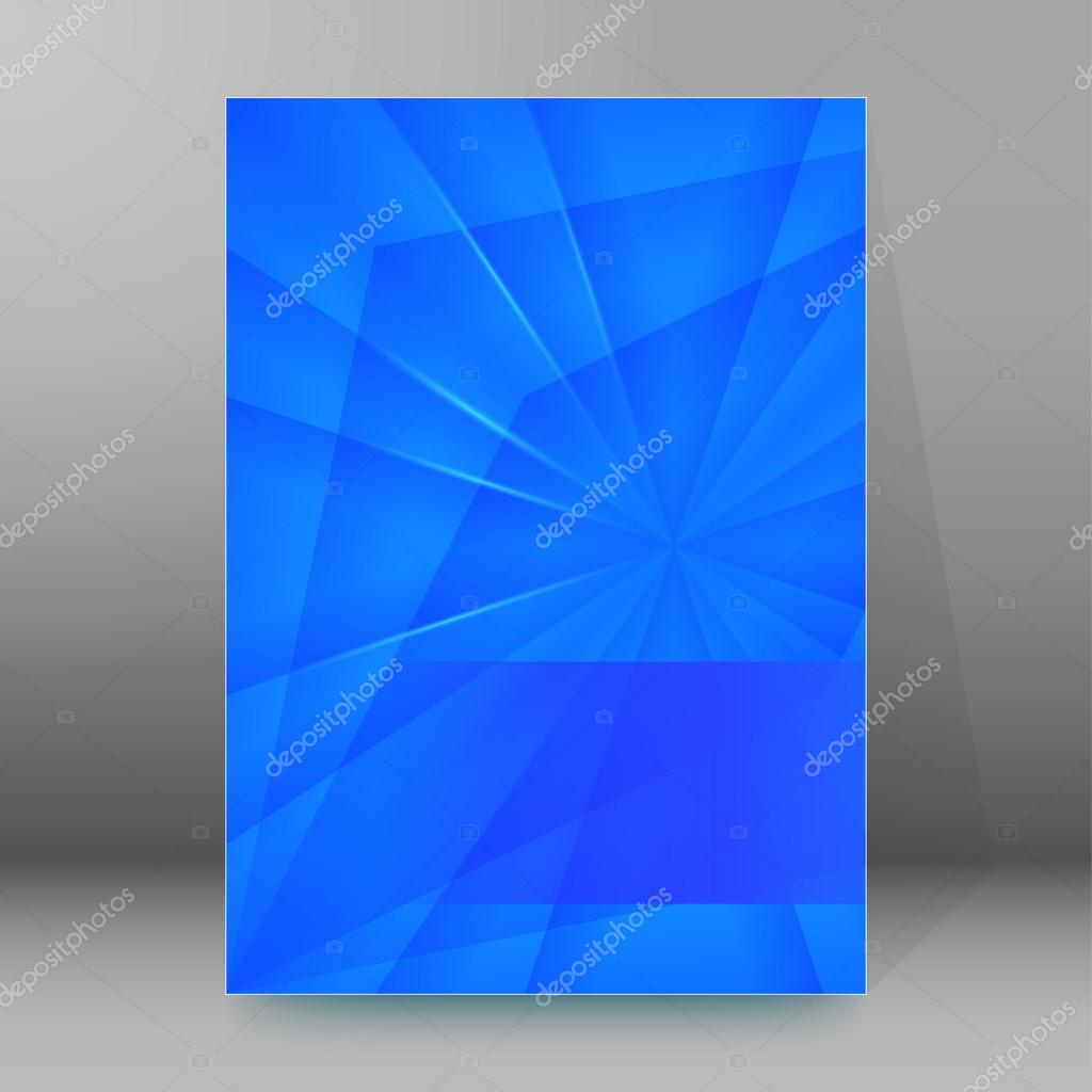 blue crystal background brochure cover page layout stock vector vector illustration eps 10 for booklet layout page future technology theme leaflet newsletters vector by silvercircle