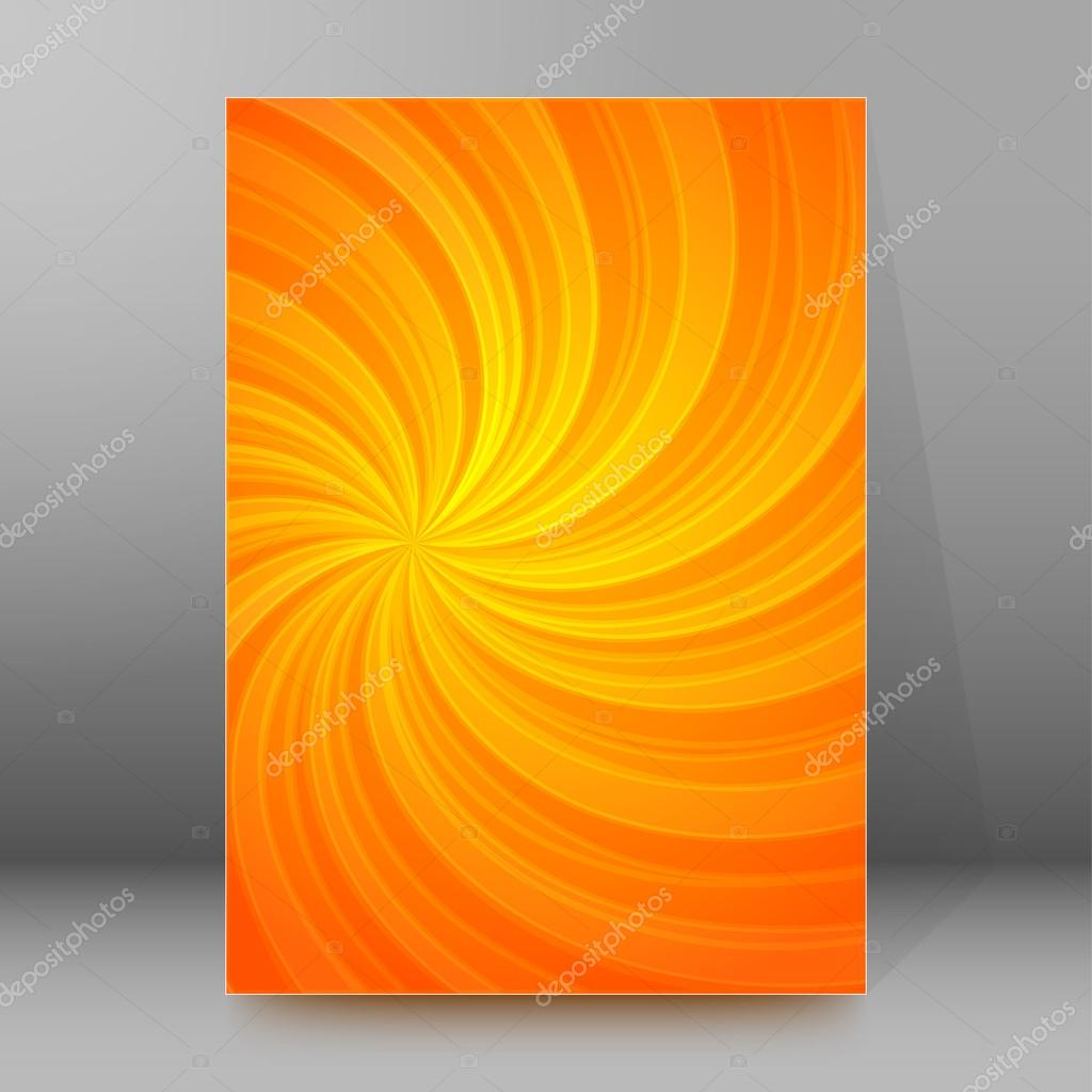 energy spiral background brochure cover page layout stock vector abstract spiral background of bright glow perspective lighting orange twist lines can be used for business brochure flyer party design banners