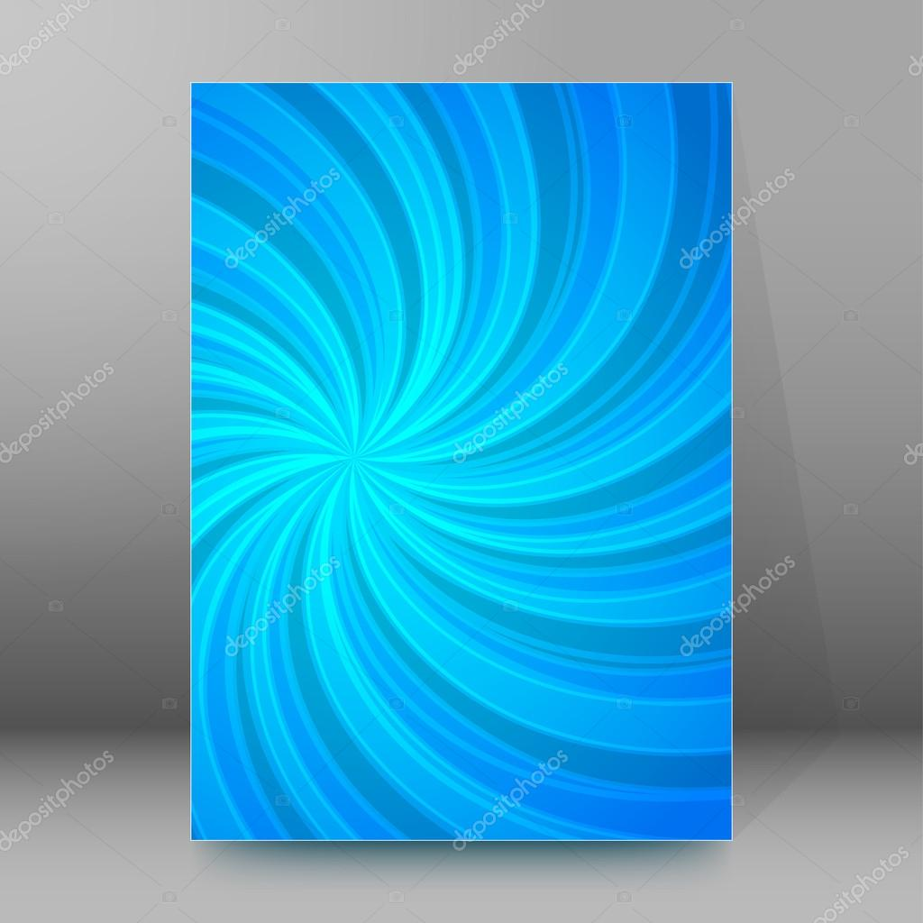 energy twist background brochure cover page layout stock vector abstract spiral background of bright glow perspective lighting blue twist lines can be used for business brochure flyer party design banners cover