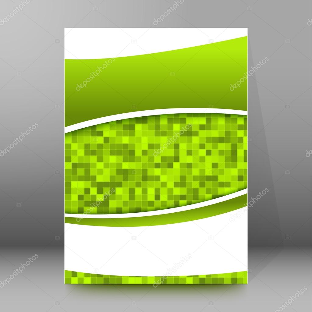 report background brochure cover page layout stock vector advertisement flyer design elements mesh green background elegant graphic mosaic bright light vector illustration eps 10 for template brochure