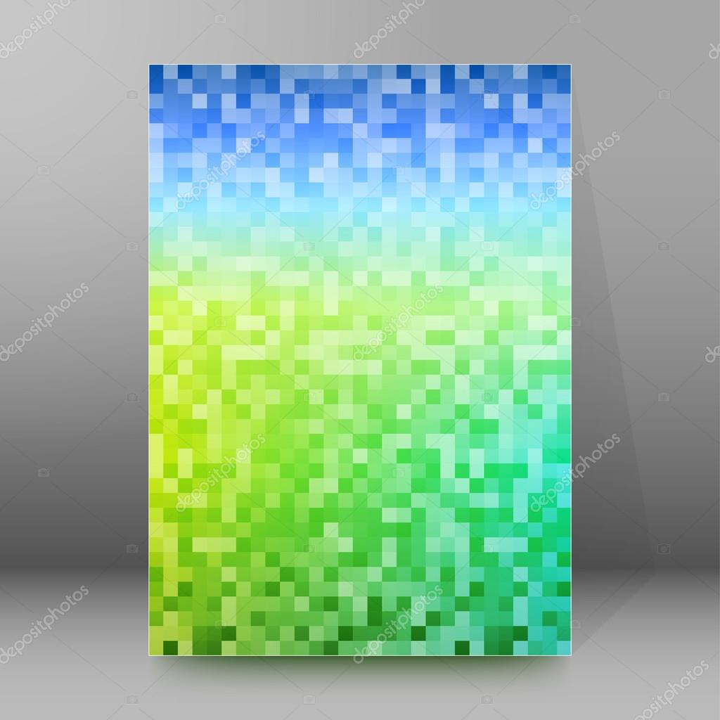 squares mosaic background brochure cover page layout stock mesh blue green background elegant graphic mosaic bright light vector illustration eps 10 for template brochure layout leaflet newsletters vector