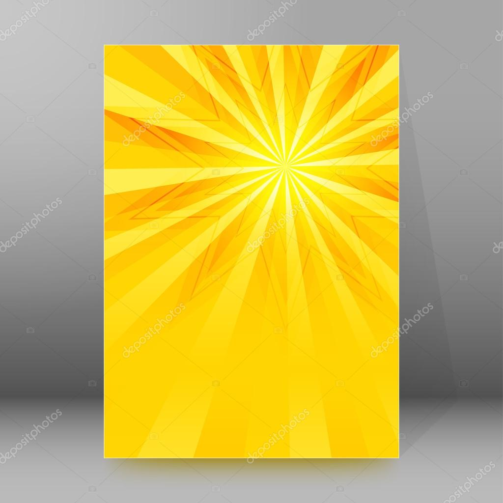 star yellow background brochure cover page layout stock vector star yellow background brochure cover page layout stock vector 92077570