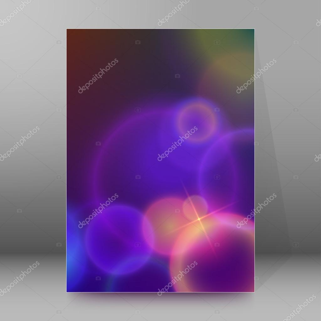 bubbles blur brochure cover page background stock vector advertising flyer party design elements purple background elegant graphic blur bright light circles vector illustration eps 10 for template brochure