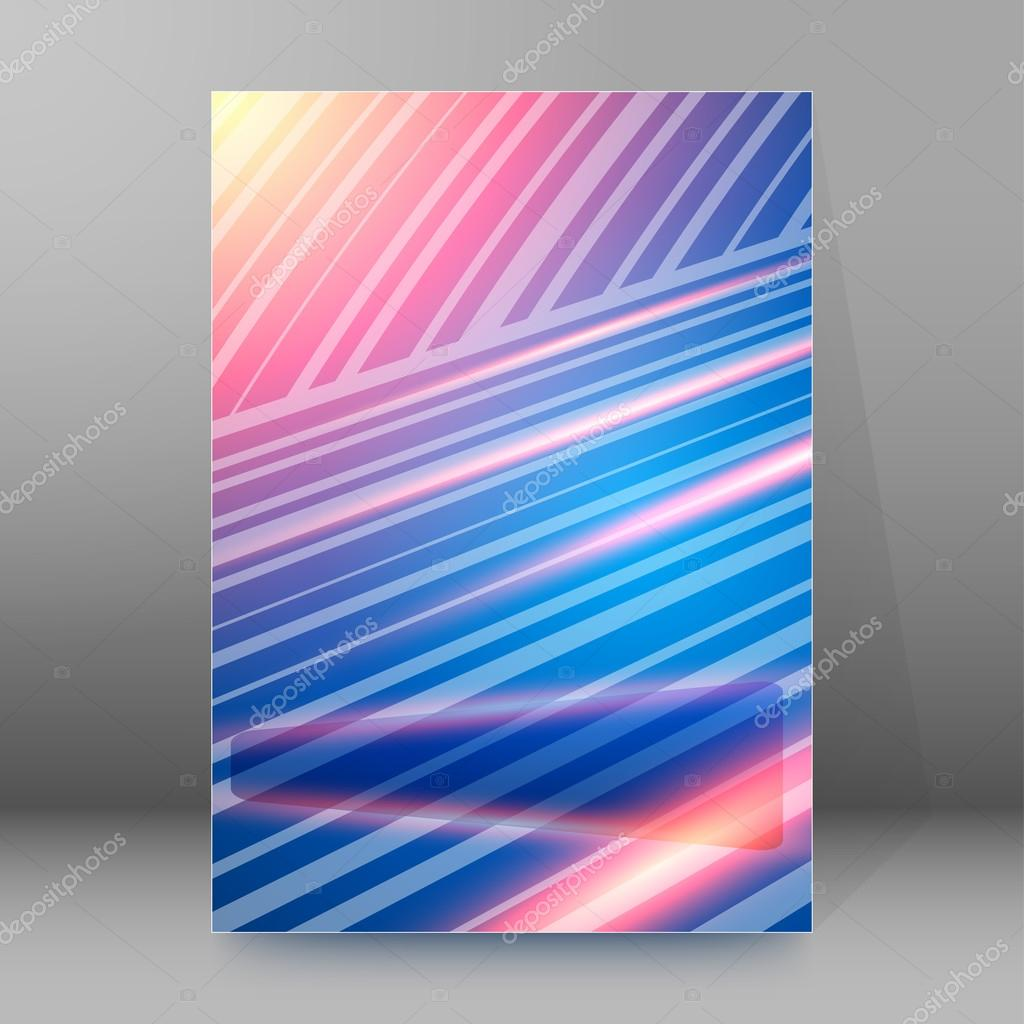 obliquely strip line brochure cover page background stock vector background advertising brochure design elements blurry light glowing graphic form for elegant flyer vector illustration eps 10 for booklet layout