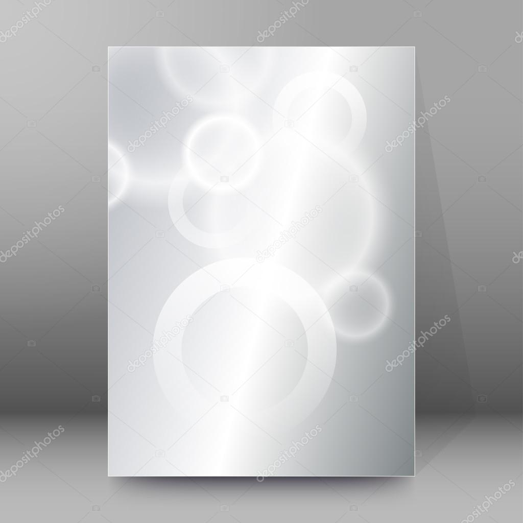 silver glitter circles cover page brochure background stock modern design geometric style template on blur gray circle background space place for your text vector illustration eps 10 for title page newsletter