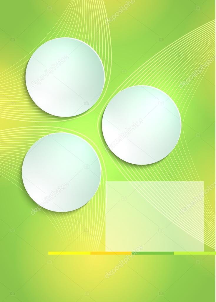 Green light background flyer template cover brochure – Green Flyer Template
