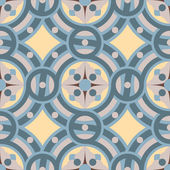 Seamless vector vintage background pattern in golden, gray, blue colors. — Stock Vector