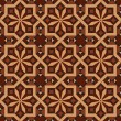 Vector version of seamless vintage editable tile pattern with geometrical and floral motifs — Stock Vector #69127297