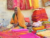 Sari Seller — Stock Photo