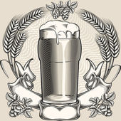 Pint of beer — Stock Vector
