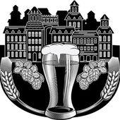 Brewery emblem - beer — Vector de stock