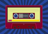 Colorful Audio cassette — Stock Vector
