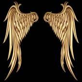 Vintage Golden Wings — Vector de stock