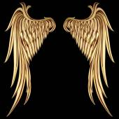 Vintage Golden Wings — Stock vektor