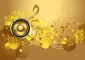 Golden Music design — Stock Vector