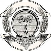 Vintage Beer emblem — Stock Vector
