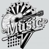 Vintage Music design — Stock Vector