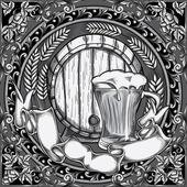 Vintage Beer design — Stock Vector