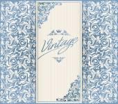 Vintage decorative blank — Stock Vector