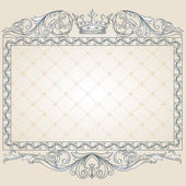 Retro ornate frame — Stock Vector