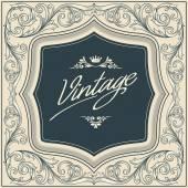 Vintage decorative frame — Stock Vector