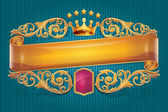 Golden scroll — Stock Vector