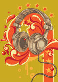 Headphones — Stock Vector
