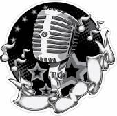 Microphone retro design — Stock Vector