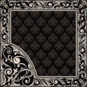 Rectangle ornate frame — Stock Vector
