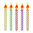 Multi Colored Birthday Candles — Stock Vector #60828317