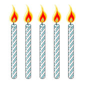Blue Birthday Candles — Stock Vector