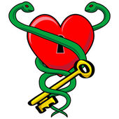 Heart Snake — Stock Vector