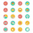 Flat icons set: web, infographics — Stock Vector #61277201