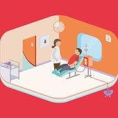 Donar sangre — Vector de stock
