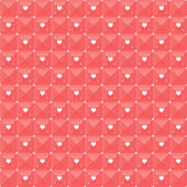 Seamless geometric pattern with hearts. — Stock Vector