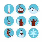 Ski resort icon — Stock Vector