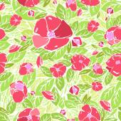 Seamless Flower pattern, vector graphics — Stock Vector