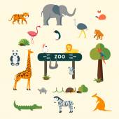 Animals and Zoo — Stock Vector