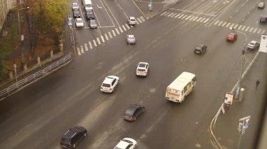 Street road traffic in Chelyabinsk — Stock Video