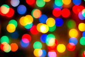 Footage with colored lights out of focus — Stockfoto
