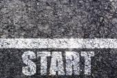 Start line — Stock Photo