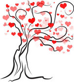 Tree with hearts — Stock Photo