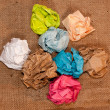 Crumpled colorful paper on background — Stockfoto #70733949