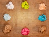 Crumpled colorful paper on background — Stock Photo