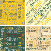 Words of gold, silver and bronze — Stockvektor