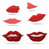 Vector lips — Stock Vector