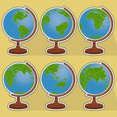 Sei globi — Vettoriale Stock
