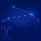 Constellation aries — Stock Vector