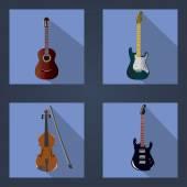 ギターとバイオリン — ストックベクタ