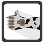 Dalmation thumbs up — Stock Vector